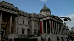National Gallery of Art, Trafalgar Square, London Stock Footage