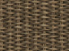 woven wicker background - stock illustration