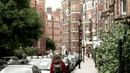 Stock Video Footage of City of London Historic Architecture affluent neighborhood royal borough England