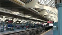 Train Station -Philadelphia 30th Street Septa Stock Footage