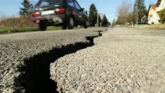 Road Crack - stock footage