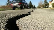 Stock Video Footage of Road Crack