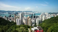 Cityscape and cloudscape in modern city hongkong,time lapse. Stock Footage