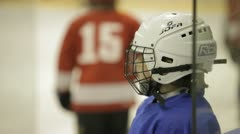 Coaching children's hockey team. Stock Footage