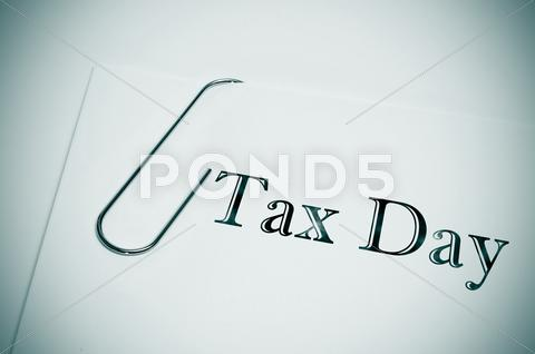 Stock photo of tax day