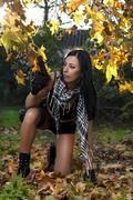 Beautiful girl with weapon Stock Photos