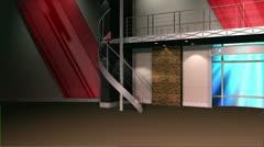 Virtual Set 12 - Newsroom Studio Background Loop - stock footage