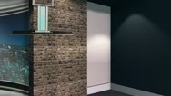 City Set - Newsroom Studio Background Set Stock Footage