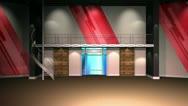 Stock Video Footage of Virtual Set 12 - Newsroom Studio Background Loop