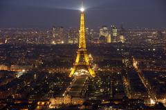 Eiffel tower by night #3 Stock Photos