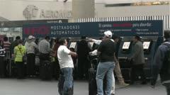 Benito Juarez Airport Domestic Terminal Mexico City 4 Stock Footage