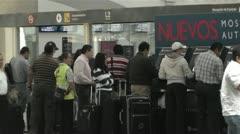 Benito Juarez Airport Domestic Terminal Mexico City 5 Stock Footage
