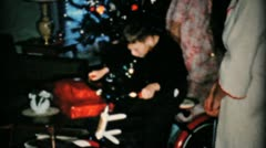 Boy Gets New Bike For Christmas-1957 Vintage 8mm film - stock footage