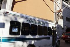 Express service bus by port authority new-york Stock Photos