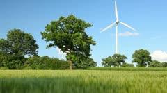 Wind Turbine against sky Stock Footage
