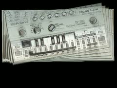 Roland Tb 303 - Vj Loop Particles Stock Footage