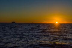 sunset on the mitsio archipelago - stock photo
