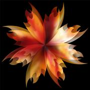 Rose petal Fire flaming flower Stock Illustration