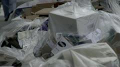 Bagged garbage  Stock Footage