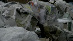 Bagged garbage New York City - stock footage