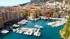 Monaco view Stock Footage