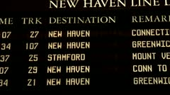 Grand Central Station Terminal New Haven Line Track Train Information - stock footage