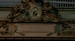 Grand Central Station Famous Clock on Terminal Facade  Stock Footage