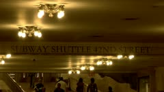 Grand Central Station Interior Passageway to Subways and shuttle 42nd. street Stock Footage