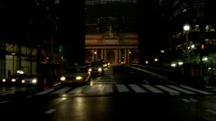 Grand Central Station Statue of Cornelius Vanderbilt on South Side of Terminal Stock Footage