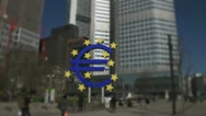 Time lapse from european central bank - ecb - Frankfurt Stock Footage