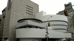 Guggenheim Museum Fifth Avenue New York Stock Footage