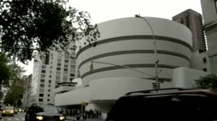 Guggenheim Museum Fifth Avenue New York Stock Footage