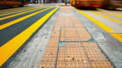 Pedestrian and traffic at crossroad of modern city,timelapse. Stock Footage