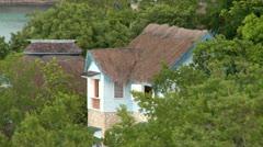 Houses Coastline Jamaica Stock Footage
