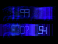 LoopNeo VJ Loops SD 640X480 - Interfront - Numbers Strobe Stock Footage