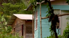 Shacks in the Mountains Stock Footage