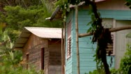Stock Video Footage of Shacks in the Mountains