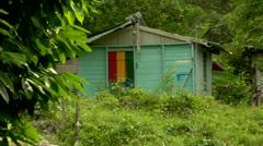 Jamaica shack  Stock Footage