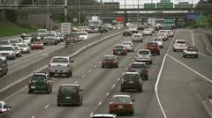 Heavy Traffic on Portland Freeway Stock Footage
