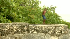 Cliff Diving  Stock Footage