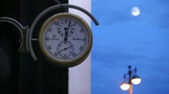 Street clock. Stock Footage