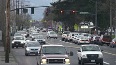Portland Surface Street City Traffic 1 Stock Footage