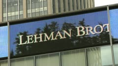 Lehman Brother's Building Stock Footage