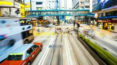 Hyperlapse view of Bus travel through hong kong  Stock Footage