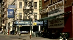 Little Italy New York City Restaurants Stock Footage