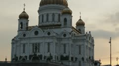 Cathedral of Christ the Savior in Moscow. Stock Footage