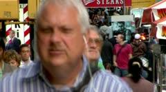 New Yorkissa Mid-Town Pakattu Streets Time-lapse Arkistovideo