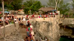 Cliff Divers, Rick's Cafe Negril Jamaica Stock Footage