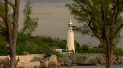 Jamaica, Negril,  Lighthouse with Rastafarian, caribbean life   Stock Footage