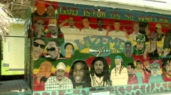 Negril Mural Recording Studio in Jamaica Stock Footage